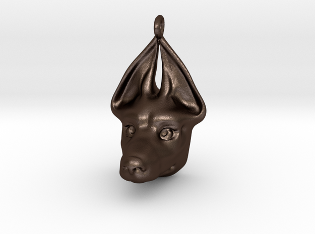 Egyptian Dog Pendant in Matte Bronze Steel