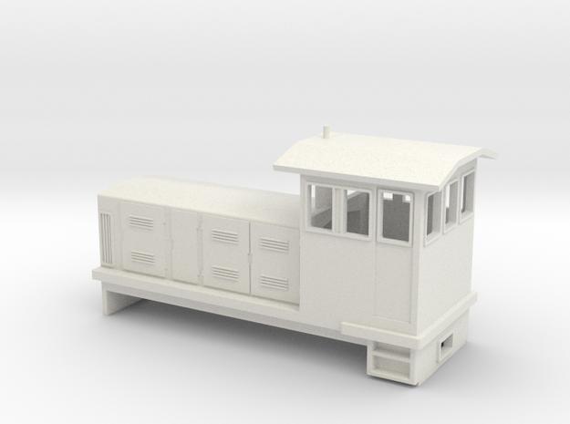 "HOn30 Endcab Locomotive (""Phoebe"") one p in White Natural Versatile Plastic"