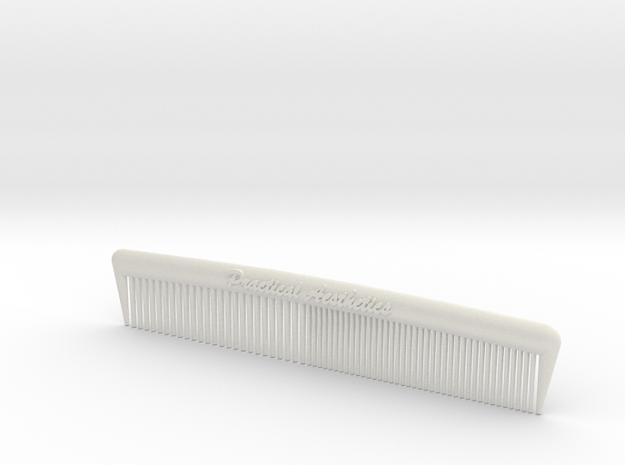 Pocket Comb, 5 inch, Coarse/Fine in White Natural Versatile Plastic