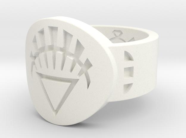 White Lantern FF (Sz's 5-15) in White Strong & Flexible Polished