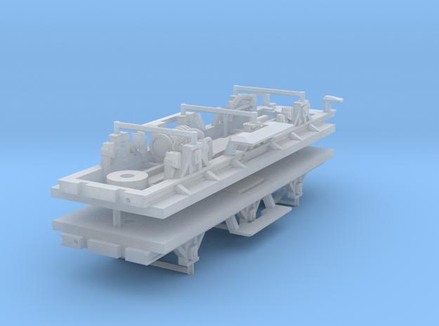 ZB (H0e) - 3ax-Fahrwerke für Liliput Gw - Kombi in Smooth Fine Detail Plastic