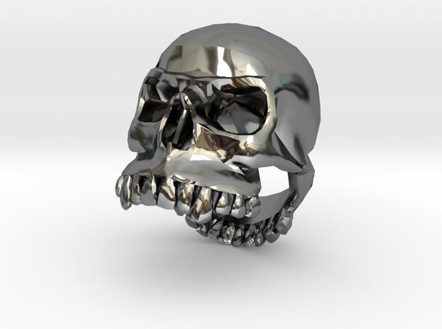 Skull Ring Girl 16mm in Premium Silver
