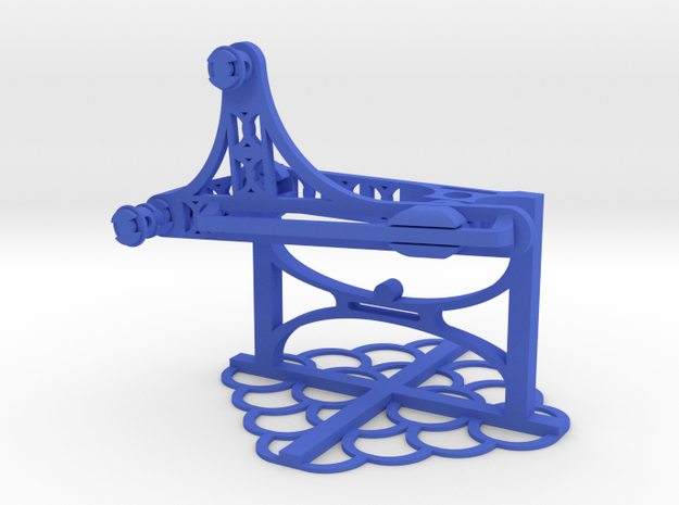 Inverted Crank Slider in Blue Processed Versatile Plastic