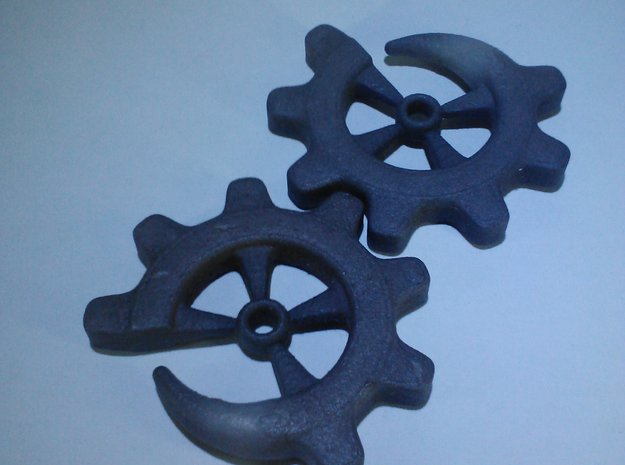 Gear-ring 2g 3d printed 2g model in Black Strong & Flexible