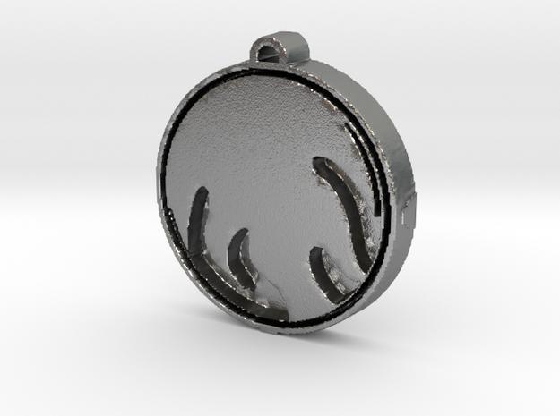 SPIRIT Medallion in Natural Silver