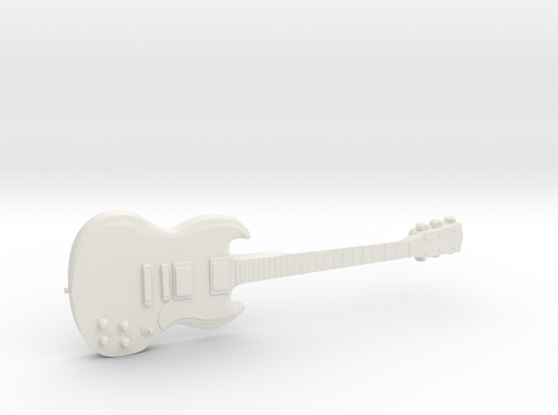 Gibson SG Guitar 1:18 in White Natural Versatile Plastic