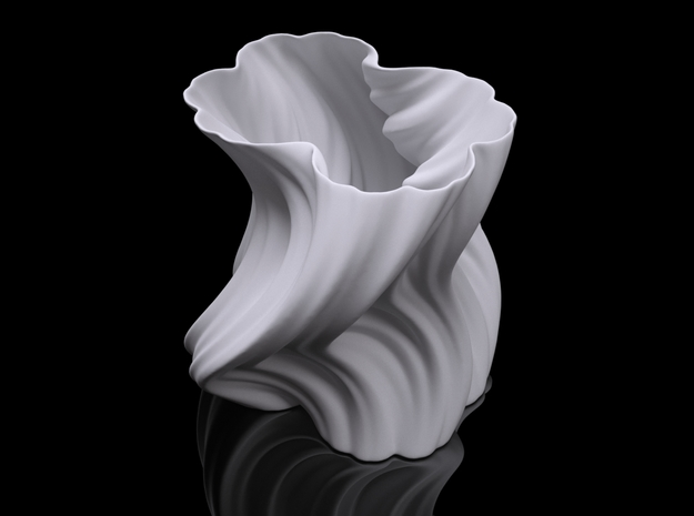 Julia Vase #004 - Bloom in White Natural Versatile Plastic