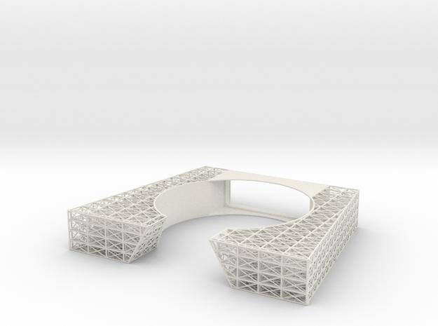 Bow Internal Framing V0.13 in White Natural Versatile Plastic