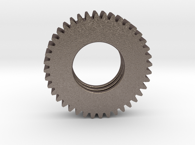 Gear Mn=1 Z=40 Pressure Angle=20° in Polished Bronzed Silver Steel