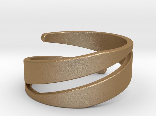 Spiral Ring (US 7) in Matte Gold Steel