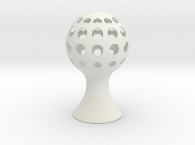 Sphere-light in White Natural Versatile Plastic