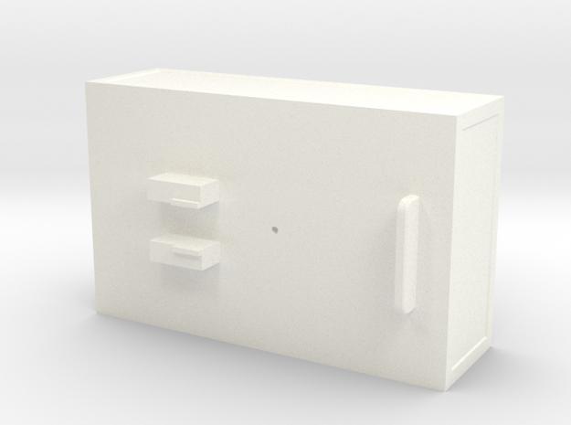 Ballastbox-22mmhigh in White Processed Versatile Plastic
