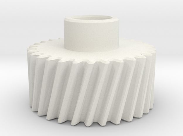 Pinion Mn=2 Z=30 Pressure Angle=20° Beta=15° in White Natural Versatile Plastic