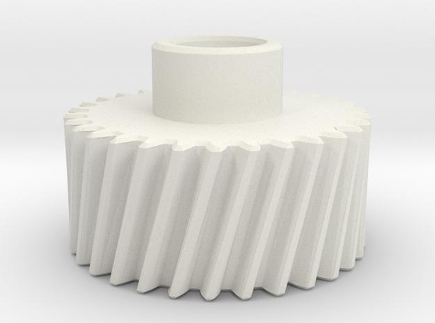 Pinion Mn=2 Z=30 Pressure Angle=20° Beta=15° in White Natural Versatile Plastic
