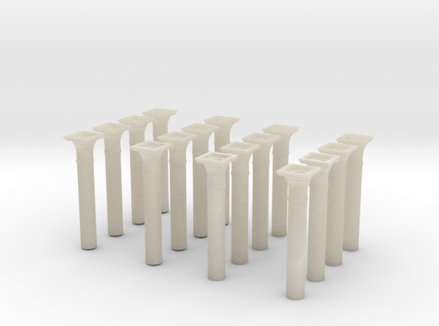 00 scale Underground station Roof Support Columns 3d printed