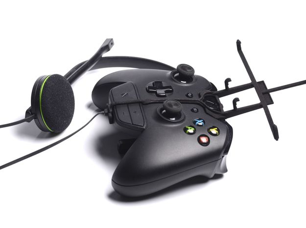 Xbox One controller & chat & Karbonn A111 3d printed Without phone - A Samsung Galaxy S3 and a black Xbox One controller & chat