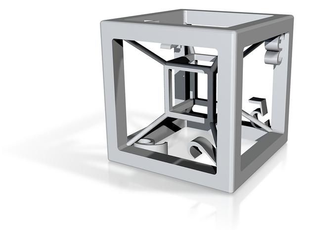 hypercube d6 3d printed