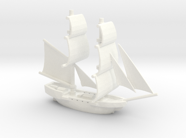 Lady Washington (aka HMS Interceptor) 3d printed