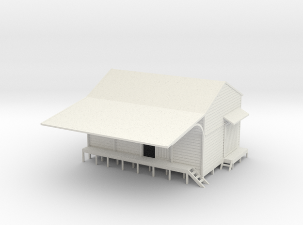 Goods Shed 1:120 3d printed