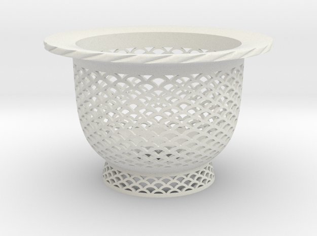 "Neo Pot - Model 2 - Size 3.0 (2.8"" ID) in White Natural Versatile Plastic"