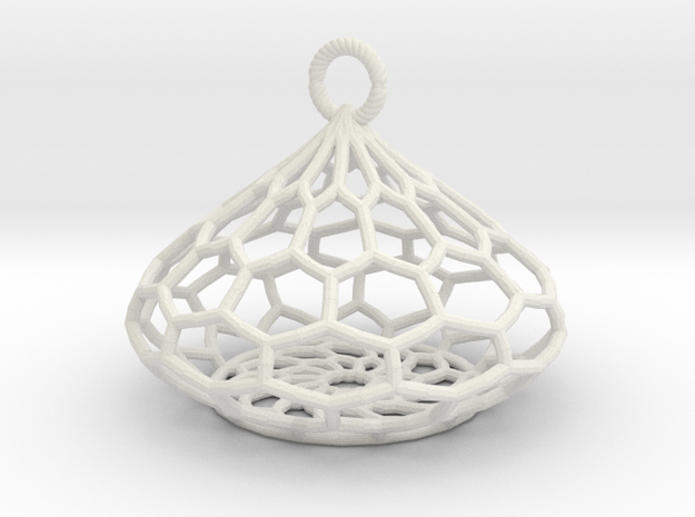 Tear Drop Basket in White Natural Versatile Plastic