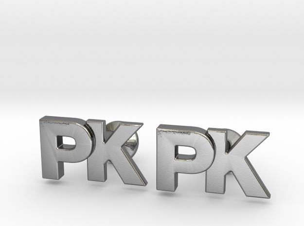 Monogram Cufflinks PK in Polished Silver