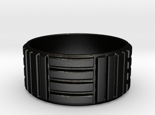 Men's Parkay Ring in Matte Black Steel