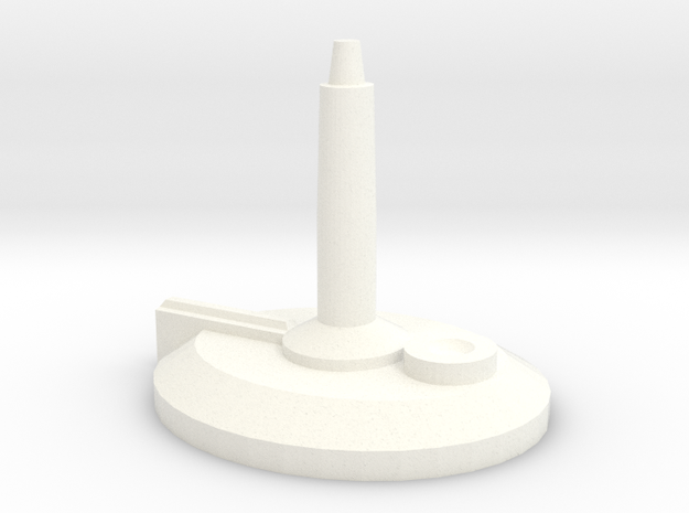 Ship Stand (requires 1/16th bit) in White Processed Versatile Plastic