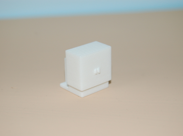 1/87 HO Scale Electrical Cabinet in White Strong & Flexible