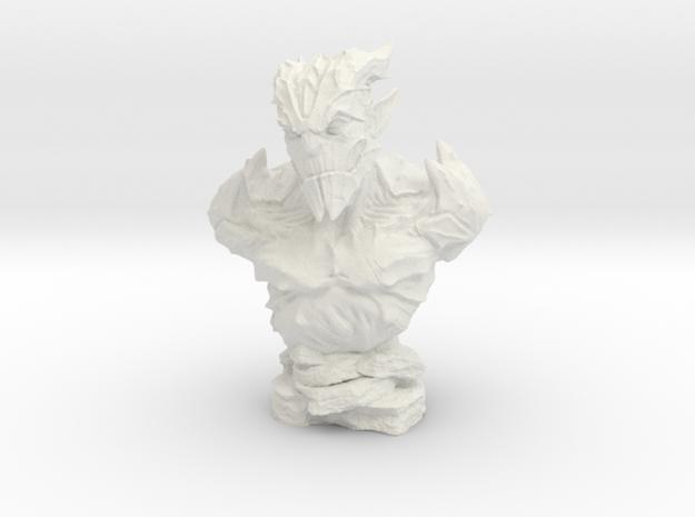 Gargoyle Bust 2 (4.4in - 11.3cm) in White Natural Versatile Plastic