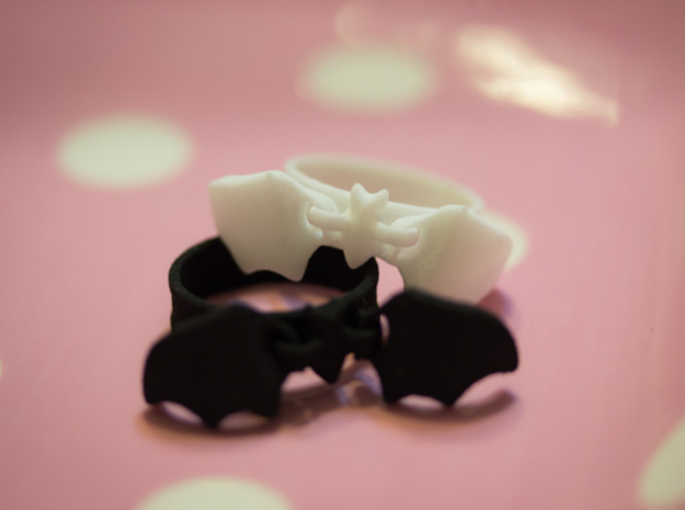 Flying Bat Charm Ring in Black Strong & Flexible: 5 / 49