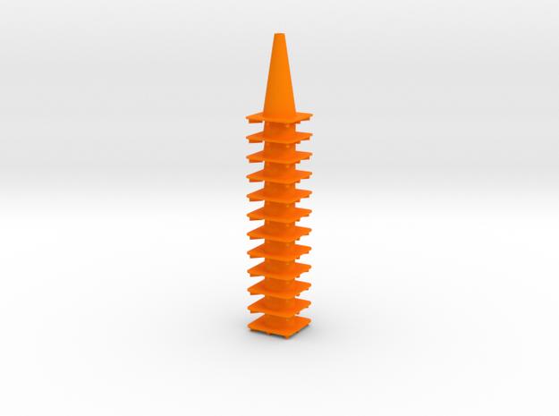 """18"""" traffic cones 1/12th (12) in Orange Processed Versatile Plastic"""
