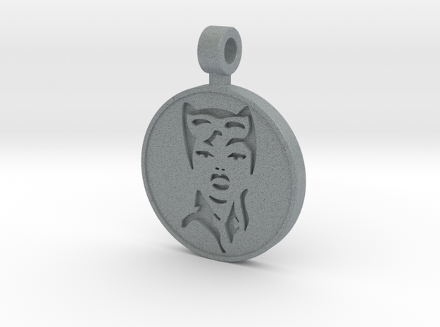 Catwoman Pendant in Polished Metallic Plastic