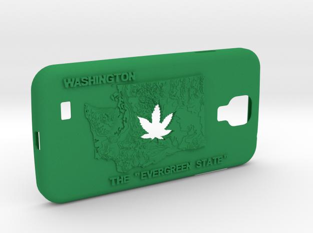 Galaxy S4 Washington Marijuana Leaf 3d printed