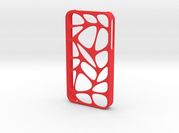 iPhone 4/4s ORGANIC in Red Processed Versatile Plastic