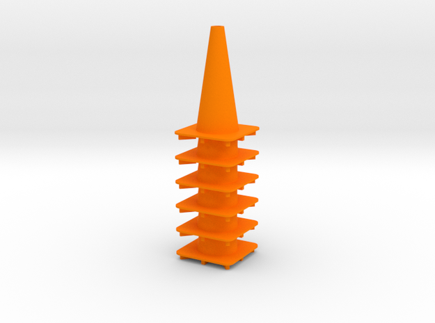 "18"" traffic cone 1/12th (6) in Orange Processed Versatile Plastic"