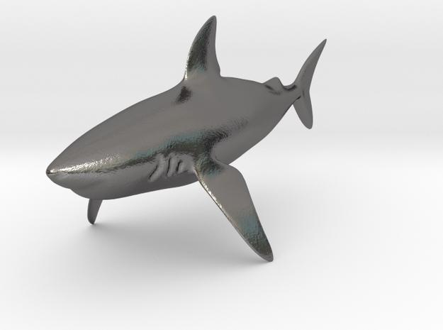 Shark in Polished Nickel Steel
