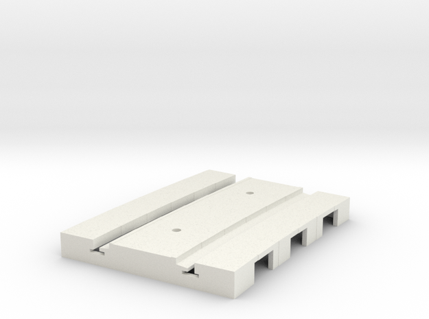 P-165stp-short-curved-r2-tram-track-100-pl-2a in White Natural Versatile Plastic