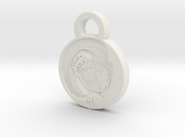 Baby Kelpie Pendant in White Natural Versatile Plastic