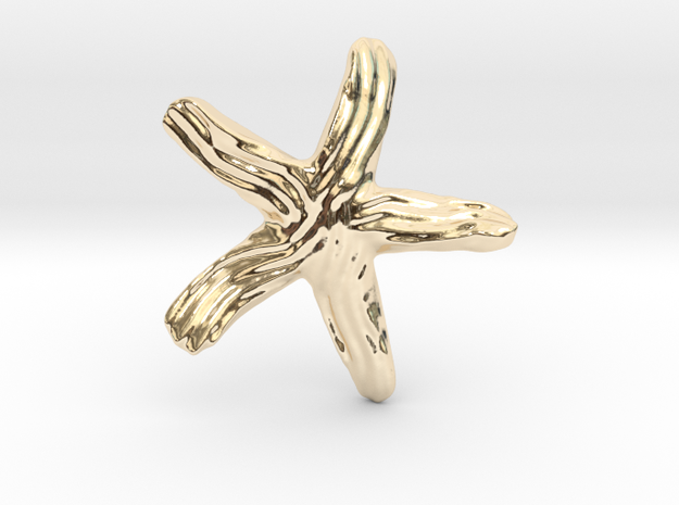 Groovy Twisty Starfish Earring 3d printed