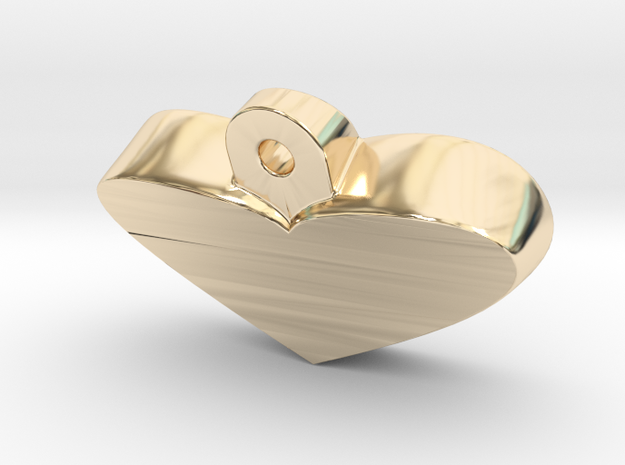 Heart Pendant in 14K Gold