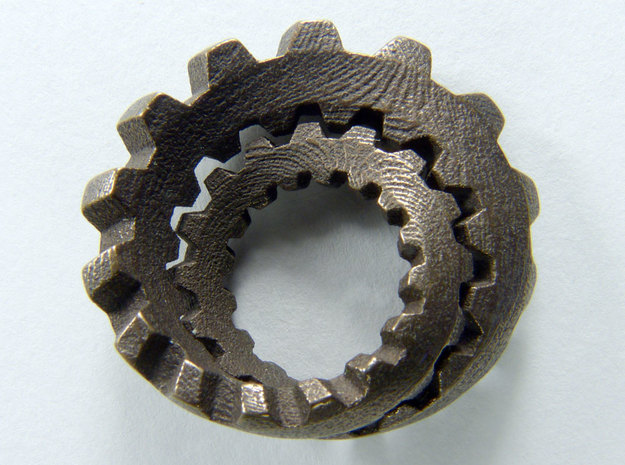 Unofoil with Cogs in Polished Bronze Steel