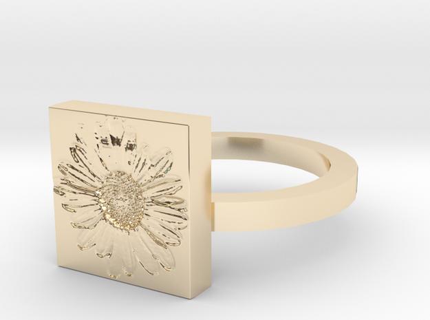 Daisy Ring in 14K Gold