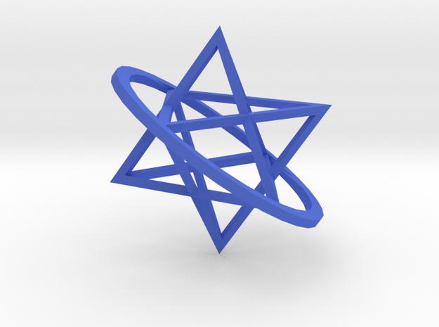 Double tetrahedron in Blue Processed Versatile Plastic