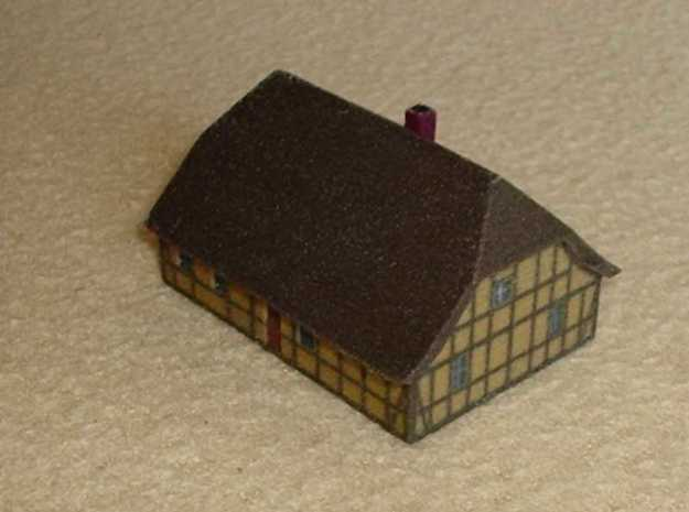 1/300 North German Cottage 3d printed