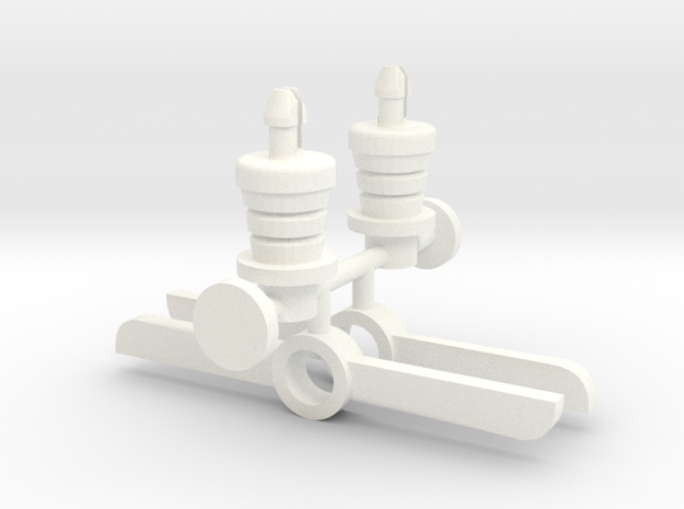 Robot Knight´s Propeller in White Strong & Flexible Polished