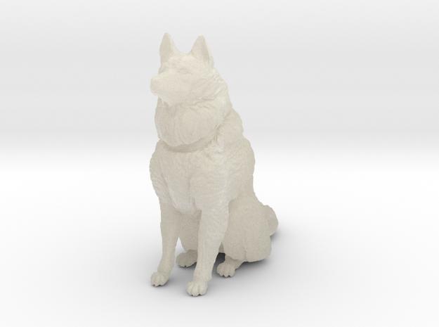 Dog Figurine - Sitting Finnish Spitz (hollow) 3d printed