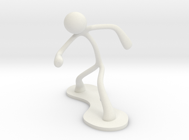 MTI Stickman-poses01 in White Natural Versatile Plastic