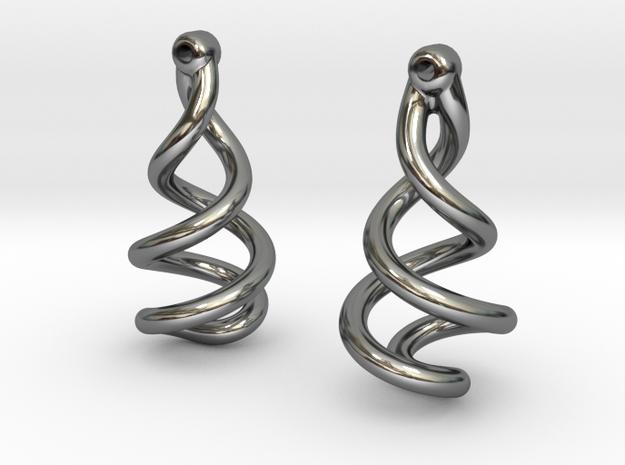 Helixial Circular Ear Rings 3d printed