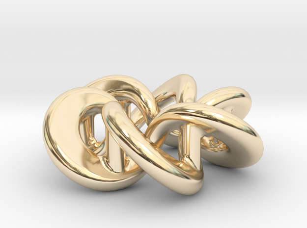Flared Circular Double Helix Pendant 3d printed